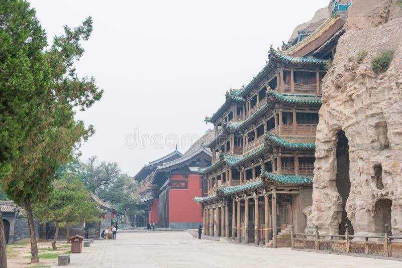 山西,中国- 2015年9月17日:云岗石窟(联合国科教文组织世界他 免版税图库摄影