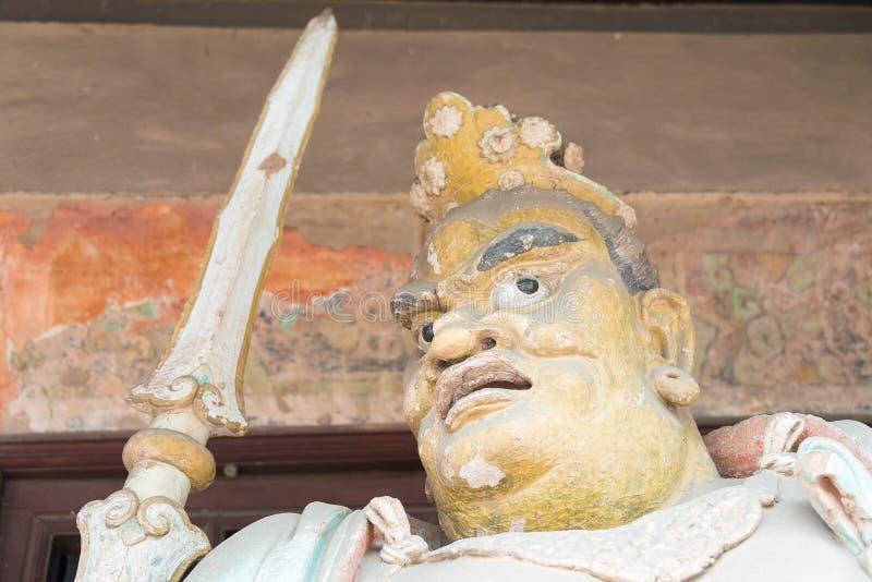 山西,中国- 2015年9月03日:在双林寺(U的Budda雕象 免版税库存图片