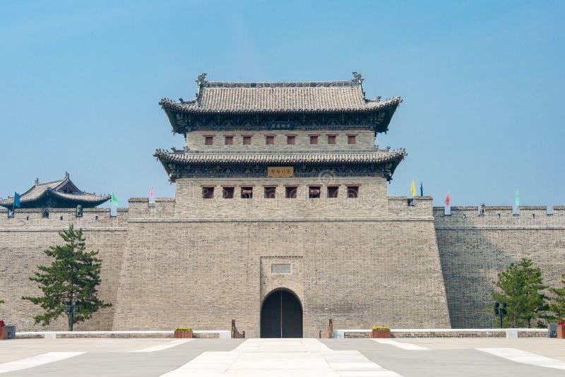 山西,中国- 2015年9月21日:大同市墙壁 著名Histor 库存照片