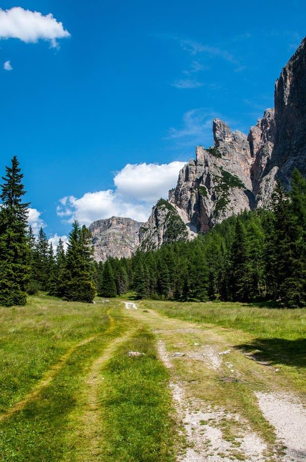 山谷在北意大利 库存图片