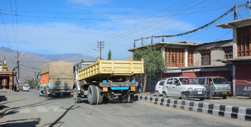 山路在拉达克,印度 免版税库存照片