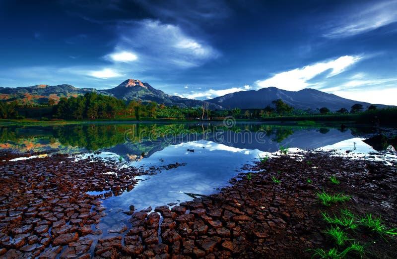 山镜子湖 库存图片