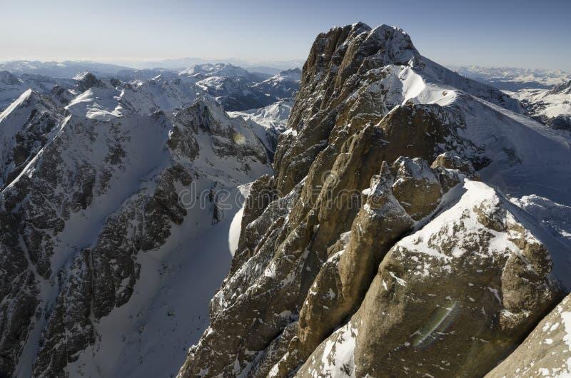 山阿尔卑斯在意大利 免版税图库摄影
