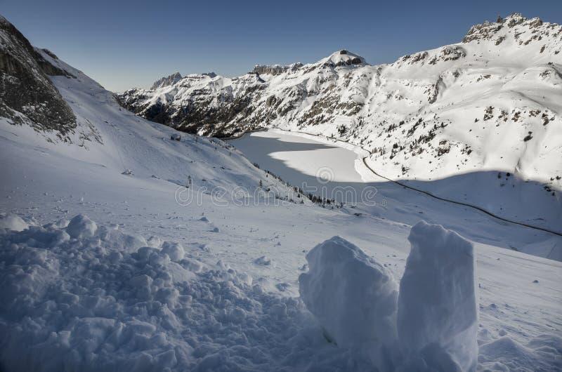 山阿尔卑斯在意大利 库存照片