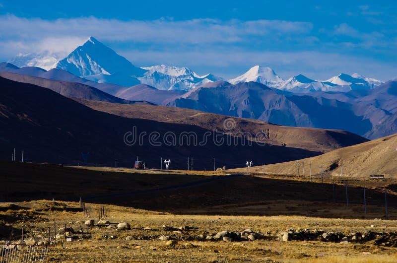 山雪西藏 库存照片