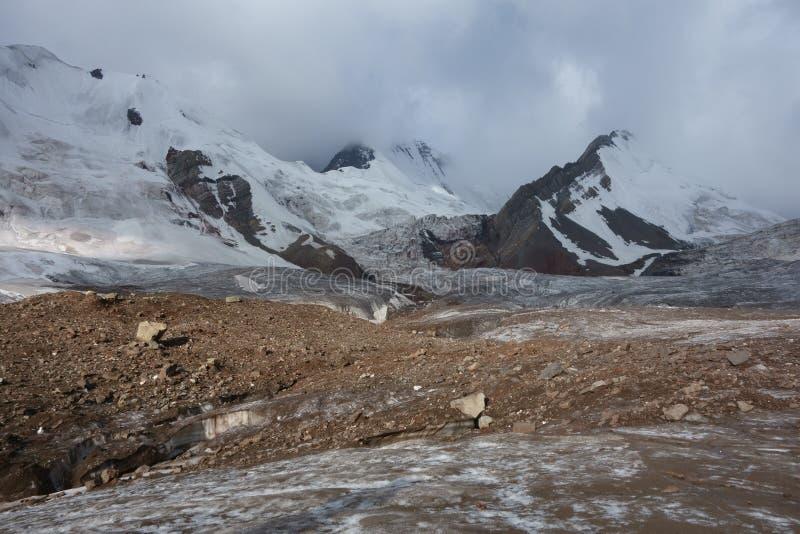 山风景。世界屋脊 库存图片