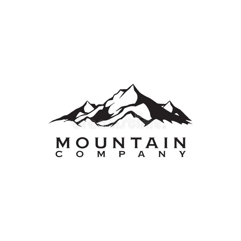 山风景商标象设计传染媒介模板 向量例证