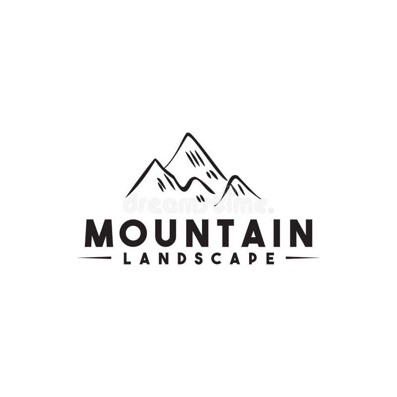 山风景商标象设计传染媒介被隔绝的模板 向量例证
