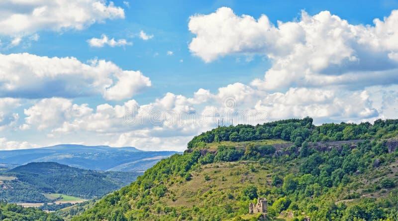 山风景在奥韦涅 免版税库存图片