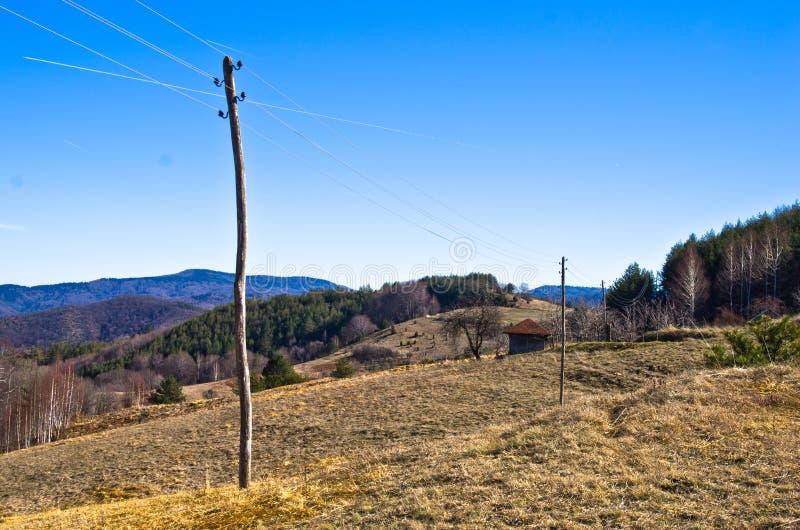 山风景在早期的春天,登上Stolovi 免版税库存照片