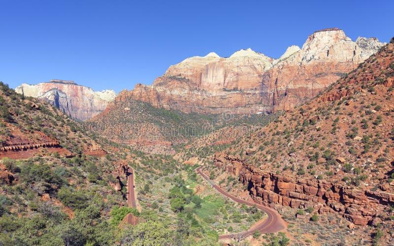 山风景在锡安国家公园 免版税图库摄影