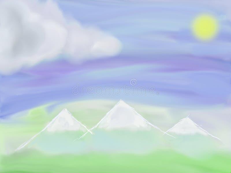 山风景的例证 免版税图库摄影