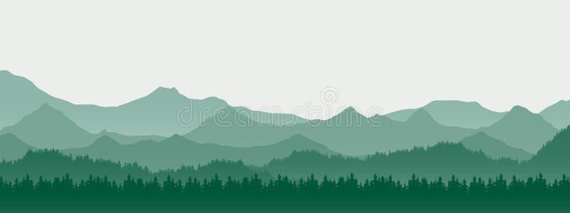 山风景的现实例证与小山和前面的 皇族释放例证