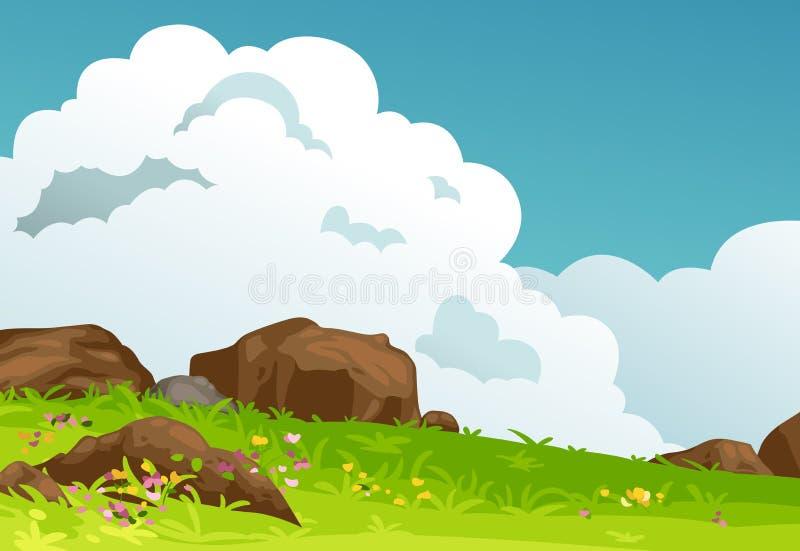 山风景背景传染媒介 库存例证