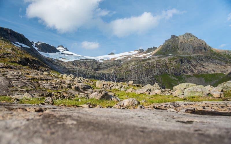 山风景,挪威 免版税库存照片