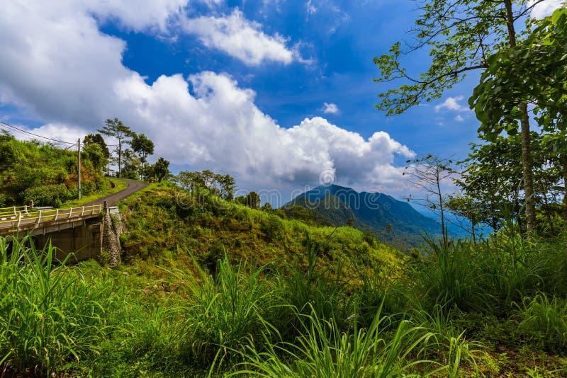山风景-巴厘岛印度尼西亚 库存图片