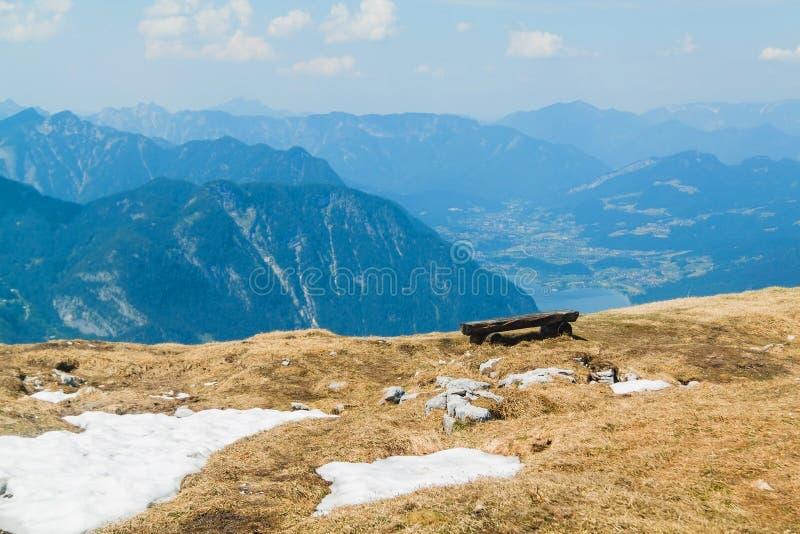 山高原Dachstein Krippenstein,奥地利的风景 库存照片