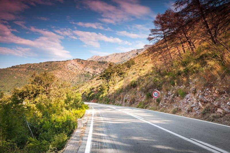 山高速公路。黑山 免版税图库摄影