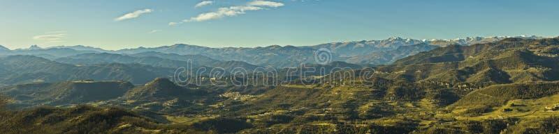 山麓小丘比利牛斯山脉比利牛斯 库存照片