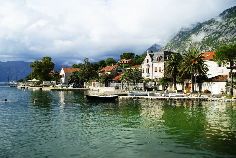 黑山,科托尔的风景市 免版税库存照片