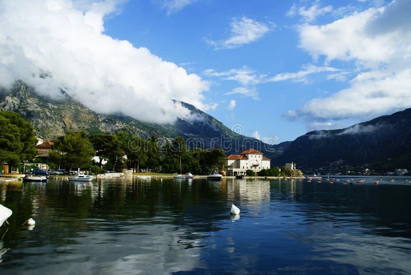 黑山,科托尔的风景市 免版税图库摄影