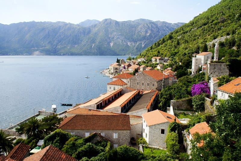 黑山,科托尔的风景 图库摄影