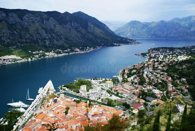 黑山,科托尔的风景 免版税库存照片