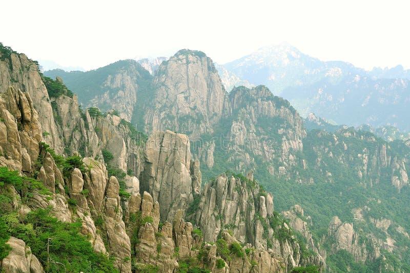 黄山,难以置信的瓷 免版税库存图片
