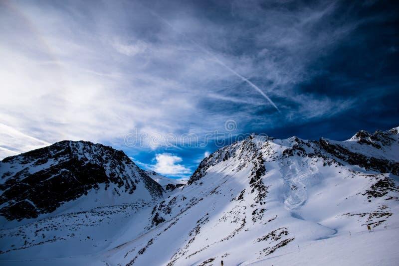 山滑雪胜地 库存图片