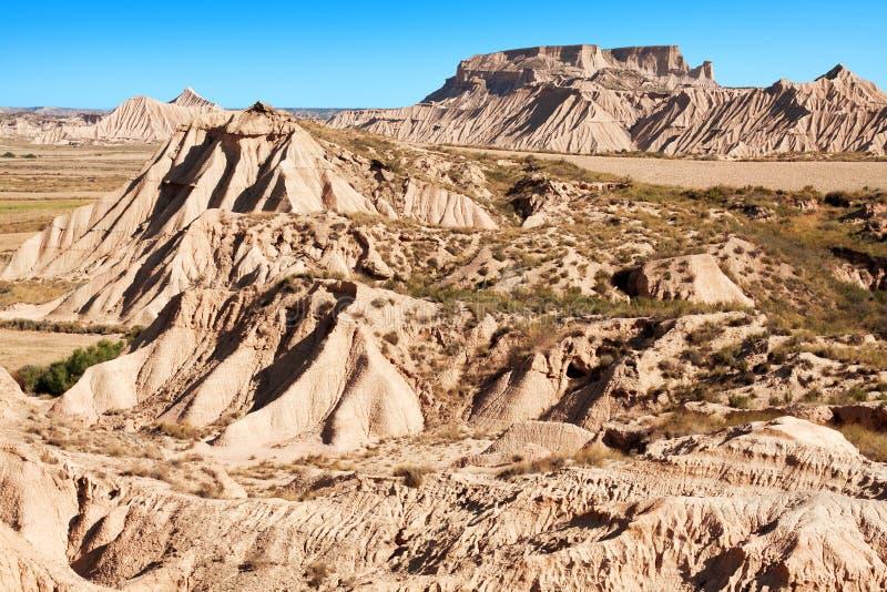 山Castildetierra在Bardenas Reales自然公园, Navarra, 免版税库存照片