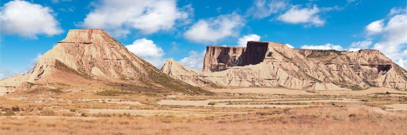山Castildetierra在Bardenas Reales自然公园, Navarra, 库存图片