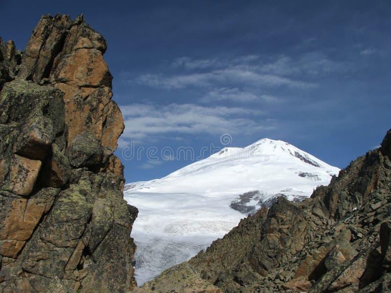 山Elbrus.5642m。 免版税库存图片