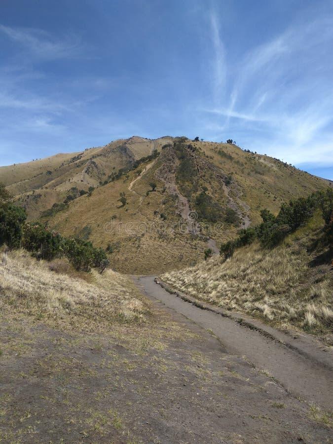 山Merbabu的上面 免版税库存图片