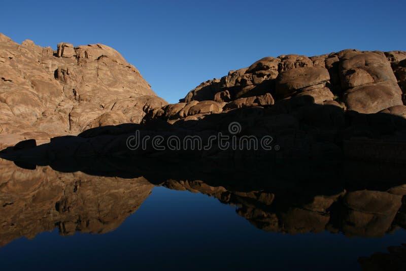 山Mt西奈 免版税库存图片