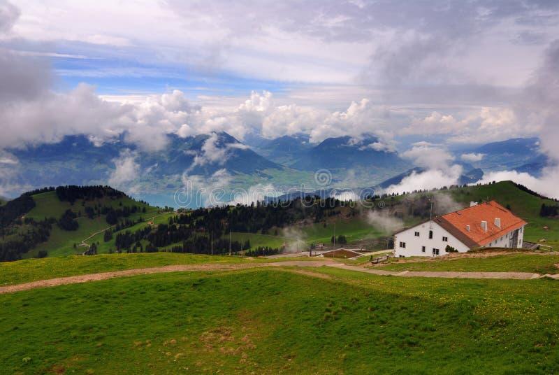 山rigi瑞士 免版税库存照片