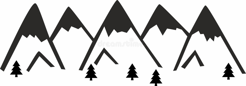山T恤杉 向量例证