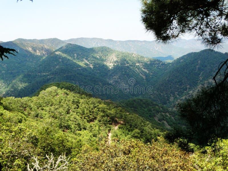 山troodos风景海塞浦路斯海岛 免版税库存照片