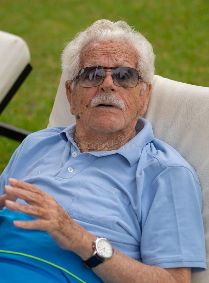 100岁的曾祖父 免版税图库摄影