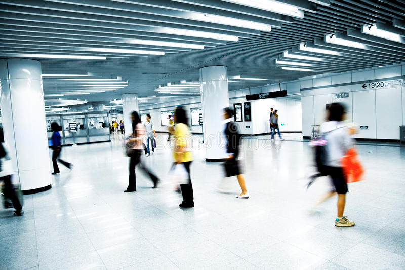 岗位地铁 免版税库存照片
