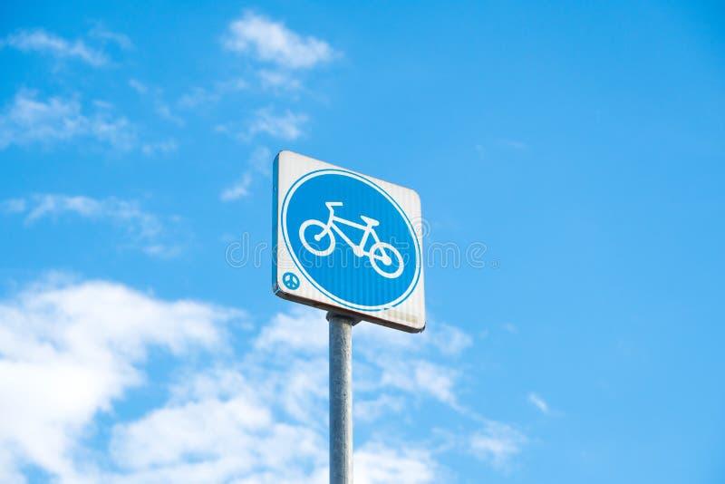 岗位标志自行车 免版税库存照片
