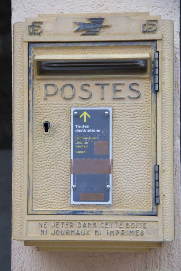 岗位箱子在法国 免版税库存照片
