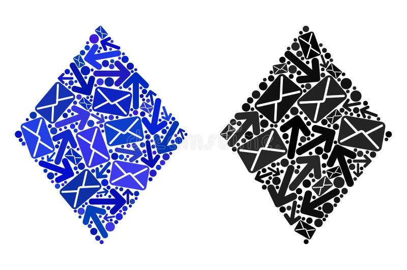 岗位行动拼贴画被填装的菱形象 皇族释放例证