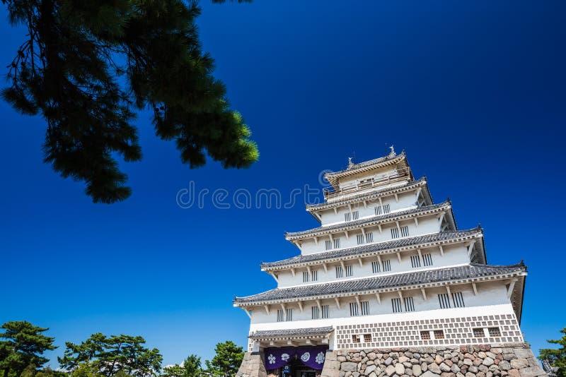 岛原市城堡在长崎县,九州 免版税库存图片