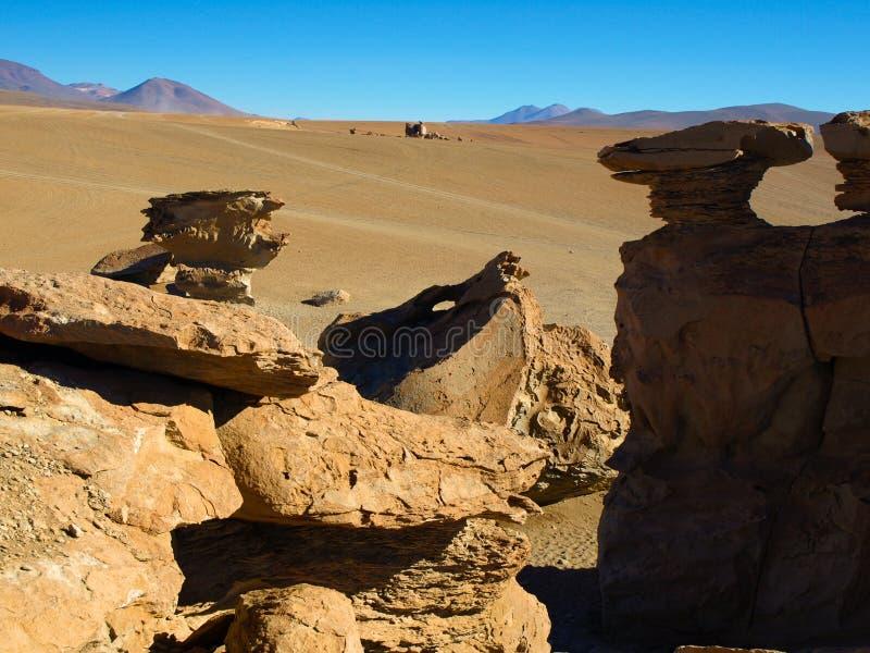 岩层在山脉de Lipez 免版税库存照片