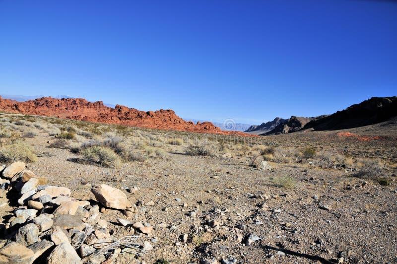 火岩层谷  库存图片