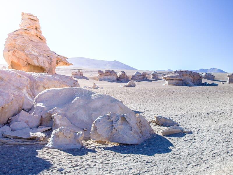 岩层在阿尔蒂普拉诺高原-山脉de Lipez,玻利维亚,南美洲 库存图片