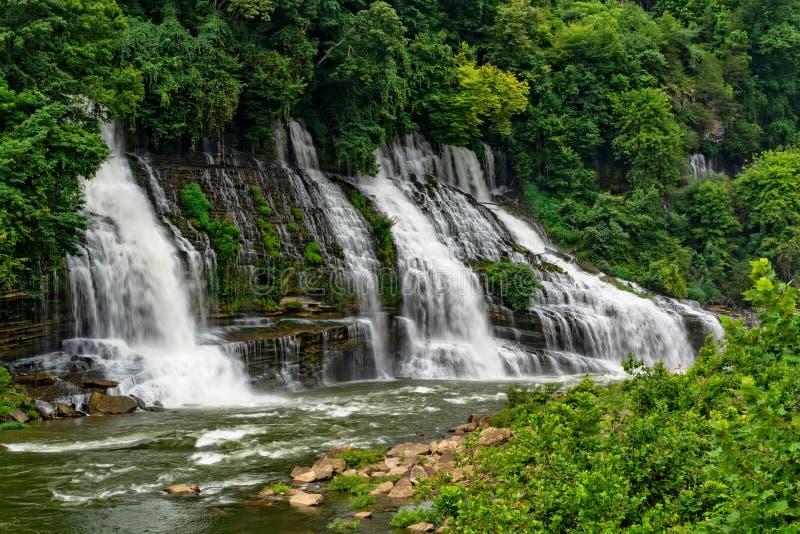 岩岛国家公园的特温福尔斯 免版税库存照片