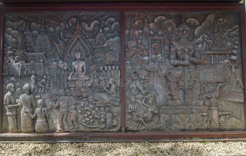岩石亚洲神图象 库存图片