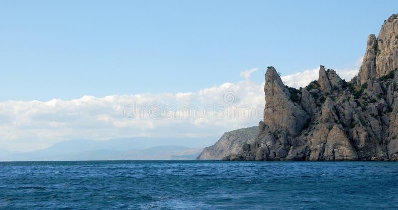岩石克里米亚半岛海岸 图库摄影