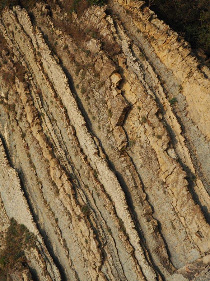 岩石分层堆积线 库存照片